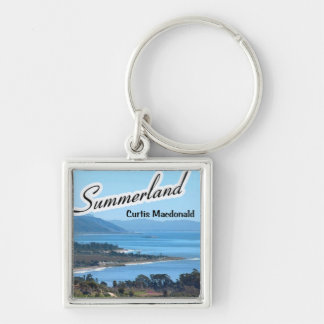 """CD Cover Art """"Summerland"""" Silver-Colored Square Keychain"""