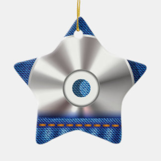 CD Disc Ceramic Ornament