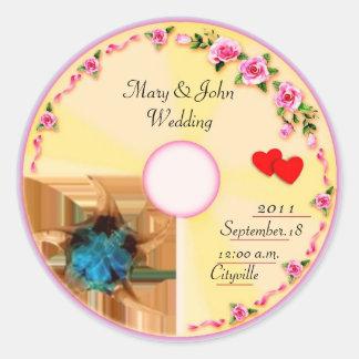 CD Label Wedding Favour Tag Round Sticker