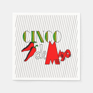 CD Peppers Cinco de Mayo Party Paper Napkins