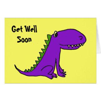 CD- Purple Dragon Get Well Card