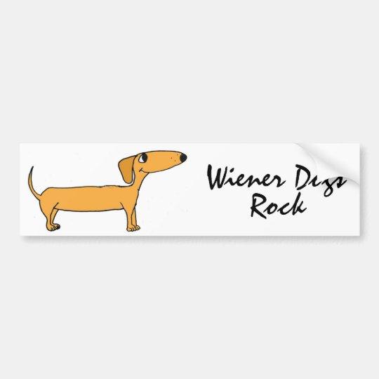 CD- Wiener Dogs Rock Bumper Sticker