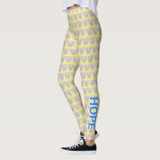 CDH Awareness Ribbon Hope Cure Cherub Leggings