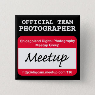CDP  Photographer badge - black 2 Inch Square Button
