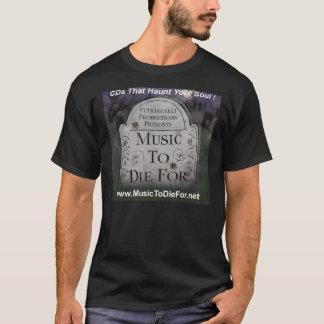CDs That Haunt Your Soul Logo Black T T-Shirt
