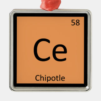 Ce - Chipotle Pepper Chemistry Periodic Table Metal Ornament