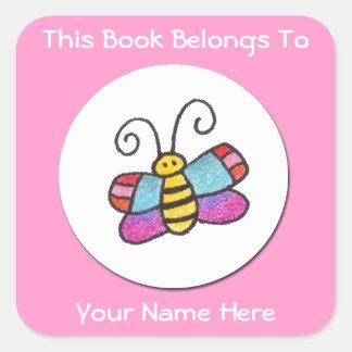 Ce livre appartient - à l'autocollant de papillon