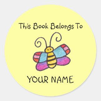Ce livre appartient à vous ! adhésifs ronds