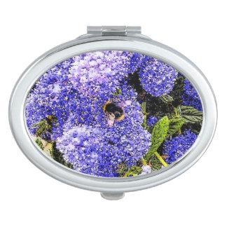 Ceanothus Flower and Bee Art Travel Mirrors