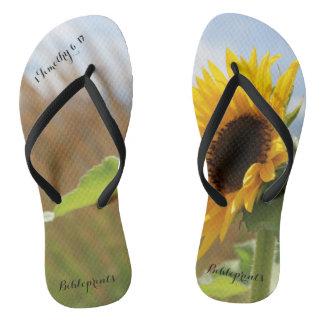 Ceaselessly Sunflower Flip Flops