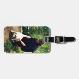 Cebo and her dog bag tag