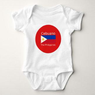 Cebuano Language And Philippines Flag Baby Bodysuit