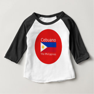 Cebuano Language And Philippines Flag Baby T-Shirt