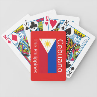 Cebuano Language And Philippines Flag Bicycle Playing Cards