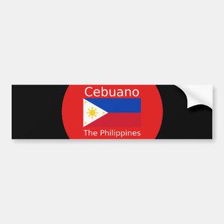 Cebuano Language And Philippines Flag Bumper Sticker
