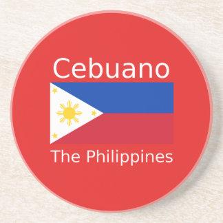 Cebuano Language And Philippines Flag Coaster