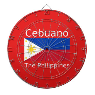 Cebuano Language And Philippines Flag Dartboard