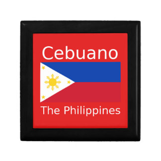 Cebuano Language And Philippines Flag Gift Box