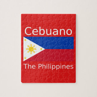 Cebuano Language And Philippines Flag Jigsaw Puzzle