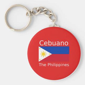 Cebuano Language And Philippines Flag Keychain