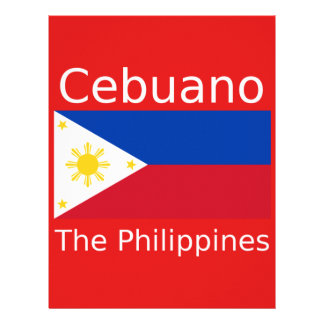 Cebuano Language And Philippines Flag Letterhead