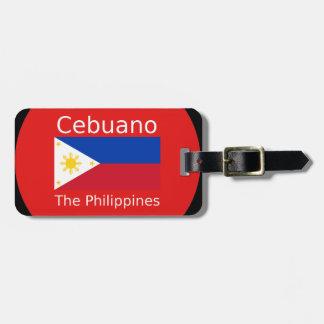 Cebuano Language And Philippines Flag Luggage Tag
