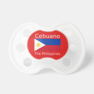 Cebuano Language And Philippines Flag Pacifier