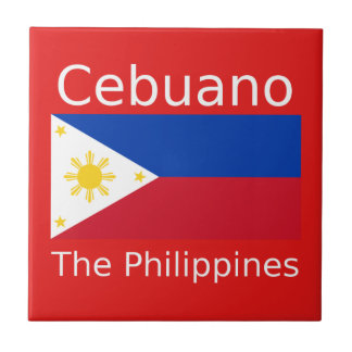 Cebuano Language And Philippines Flag Tile