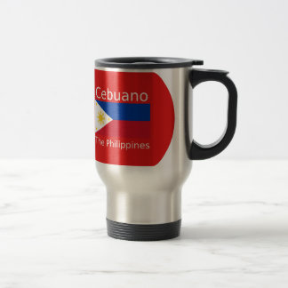 Cebuano Language And Philippines Flag Travel Mug