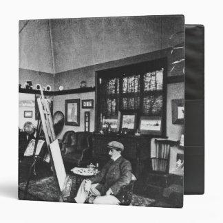 Cecil Aldin in his studio 3 Ring Binders