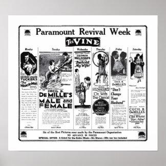 Cecil B. DeMille 1922 vintage movie ads poster