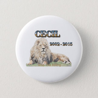 Cecil The Lion 2 Inch Round Button