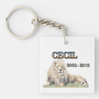 Cecil The Lion Keychain