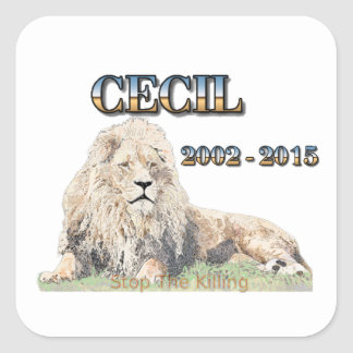 Cecil The Lion Square Sticker