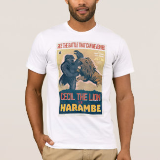 Cecil The Lion VS Harambe The Gorilla Movie T-Shirt