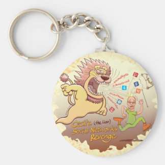 Cecil the Lion's Social Networks Revenge Keychain