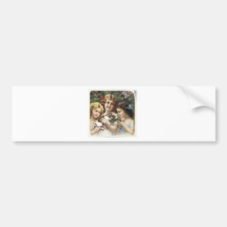 Cecily Vintage Spring Easter Shirt Bumper Sticker