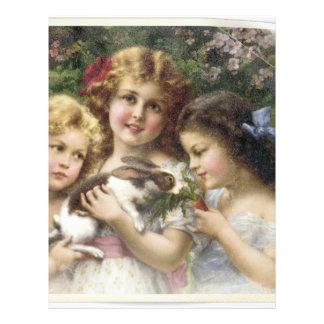 Cecily Vintage Spring Easter Shirt Letterhead
