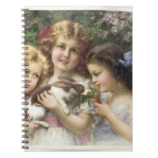 Cecily Vintage Spring Easter Shirt Notebook