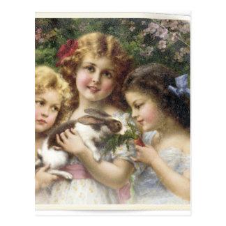 Cecily Vintage Spring Easter Shirt Postcard