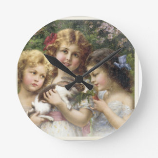 Cecily Vintage Spring Easter Shirt Wall Clock