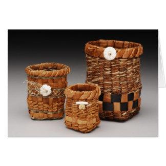 Cedar Bark Baskets Card