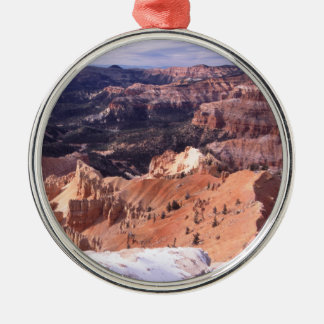 Cedar Breaks National Monument Silver-Colored Round Ornament