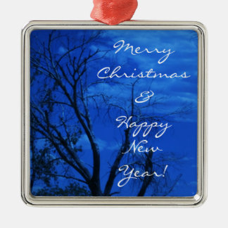 Cedar Breaks Silver-Colored Square Ornament