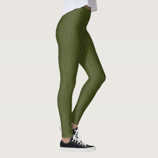 Cedar Green Wood Grain Leggings