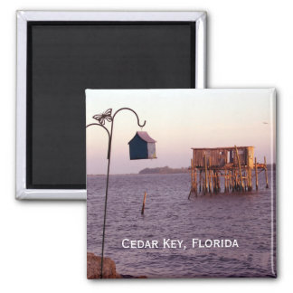 Cedar Key Bird Feeder, Cedar Key, Florida Magnet