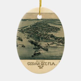 Cedar Key Ceramic Ornament