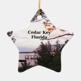 Cedar Key Florida Ceramic Star Ornament