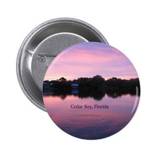 Cedar Key Florida Sunset 2 Inch Round Button