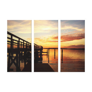 Cedar Key Florida Sunset Canvas Print